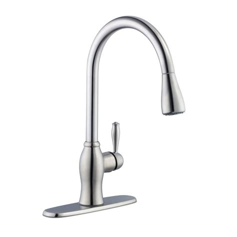 pegasus 1050 series single handle pull sprayer kitchen faucet in stainless steel 67403