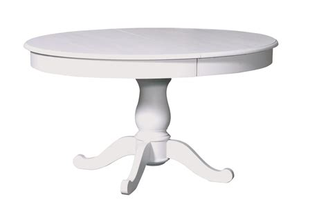 table ronde 224 bandeau en pin pied central rond