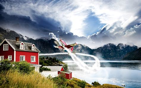 Fjord Aviation by Norway Aviation Hd Nature 4k Wallpapers Images