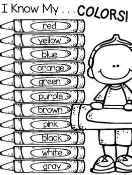 Color Words Freebie  Color Activities  Pinterest  Color Word Activities, Worksheets And