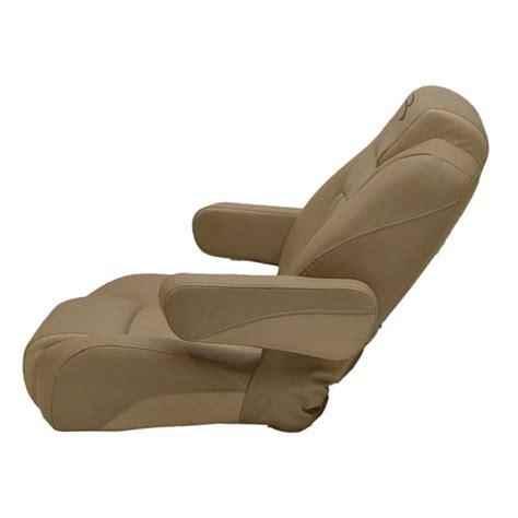 bennington beige reclining pontoon boat captains seat chair w logo second ebay