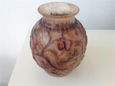 deco vase p 226 te de verre by gabriel argy rousseau for