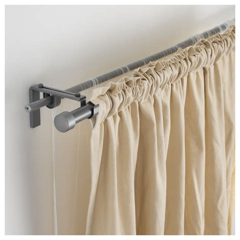 hugad curtain rod silver colour 120 210 cm ikea