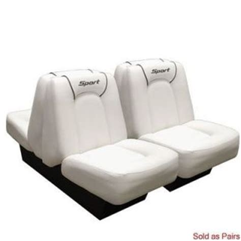 Sea Ray Back To Back Boat Seats For Sale by Four Winns M1849ab Sea Ray White Light Tan Boat Seat Single