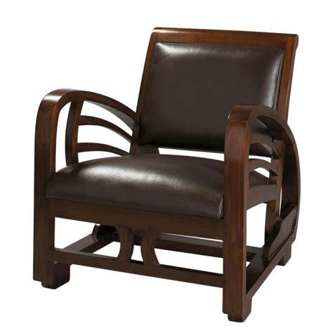fauteuil en cro 251 te de cuir marron charleston maisons du monde