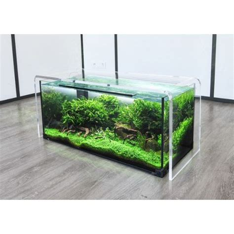 table basse aquarium bois ezooq