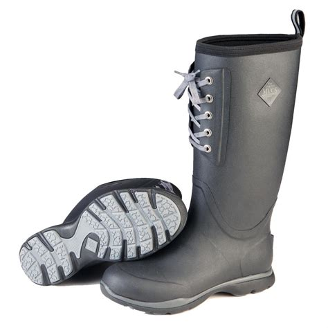 Rubber Boot With Laces by Muck Arctic Excursion Lace Tall Waterproof Insulated