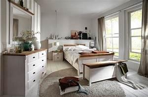 Schlafzimmer Set Massivholz : massivholz schlafzimmer komplett set wei gelaugt landhausstil ~ Markanthonyermac.com Haus und Dekorationen