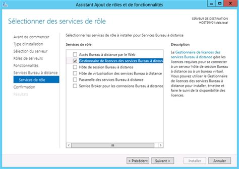 187 windows server 2012 installation du r 244 le de gestionnaire de licences des services bureau 224