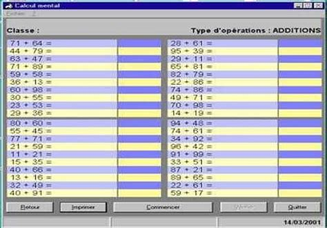 t 233 l 233 charger calcul mental pour windows freeware