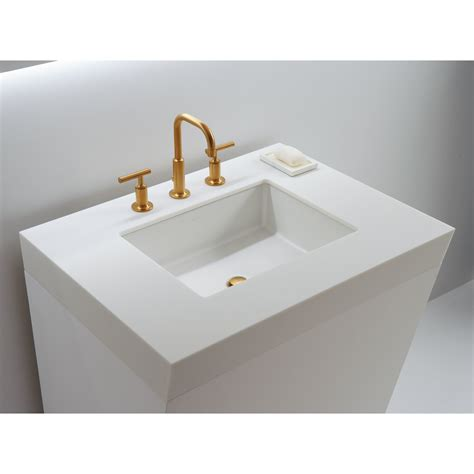 Small Rectangular Undermount Bathroom Sink by Kohler Verticyl Rectangular Undermount Bathroom Sink With