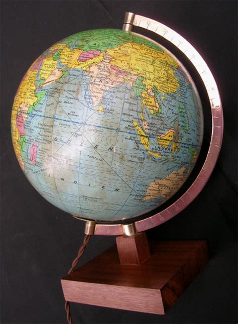 mappemonde girard et barrere globe terrestre imprim 233 par michard