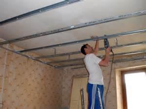 comment poser un plafond plafond platre