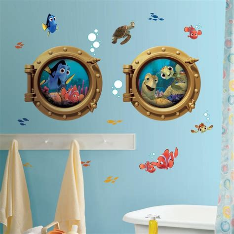new finding nemo wall decals bathroom stickers disney room decor ebay