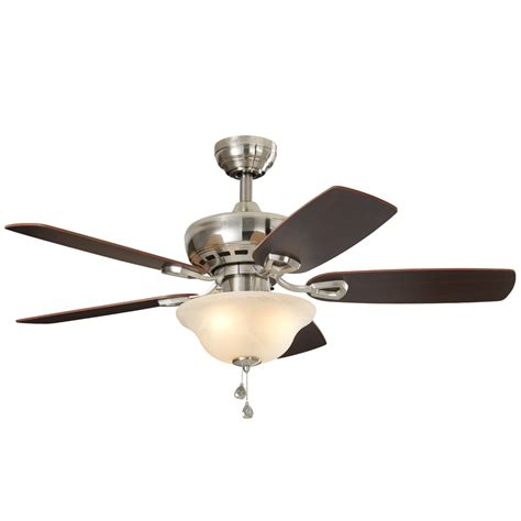 shop harbor cove 44 in satin nickel downrod or mount indoor ceiling fan with