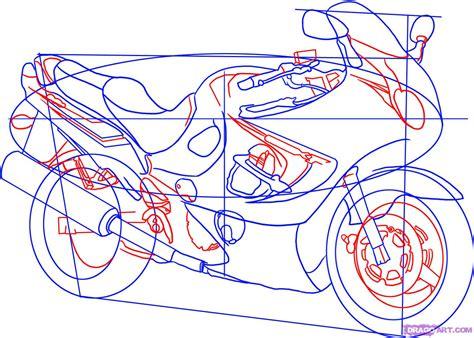 Draw A Sport Bike, 2006 Suzuki Katana 600, Step By Step