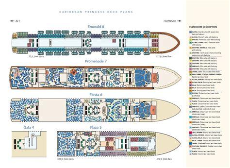 caribbean princess deck plan