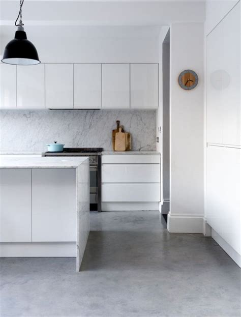 Polished Gray Floors — This Looks Good Because It Picks Up