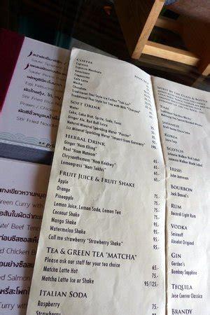 drinks menu picture of eat sight story bangkok tripadvisor