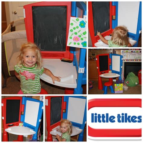 tikes desk and easel whitevan