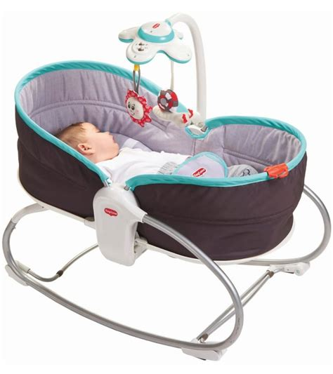 tiny 3 in 1 rocker napper grey turquoise