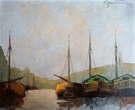 Boten Te Koop Veere by Nederlandse Vlaamse Kunstenaars Schilderijen Kunst Uit