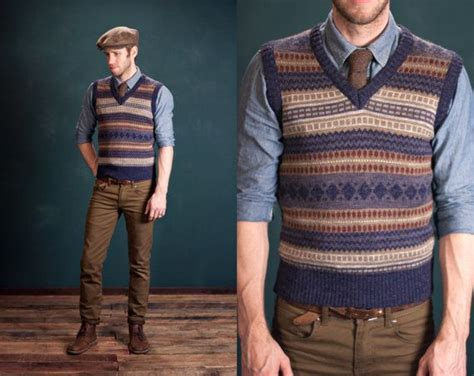 Mens Striped Sweater Vest