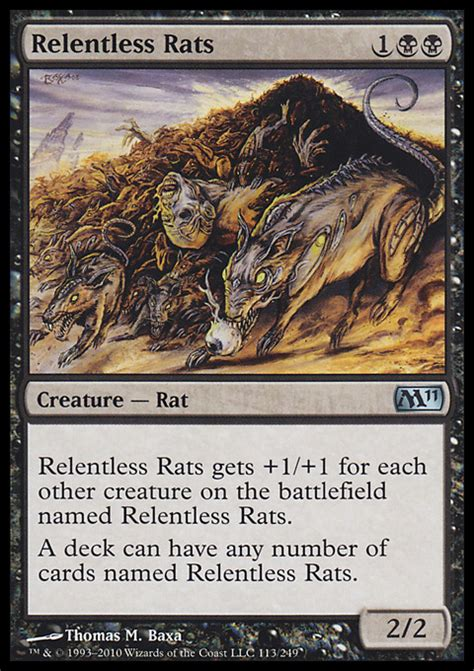 relentless rats magic the gathering card info