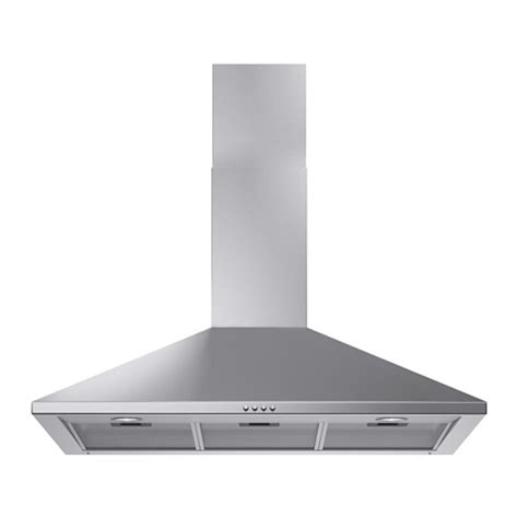 Leisure Sinks And Taps by Uppdrag Wall Mounted Extractor Hood Stainless Steel 90 Cm