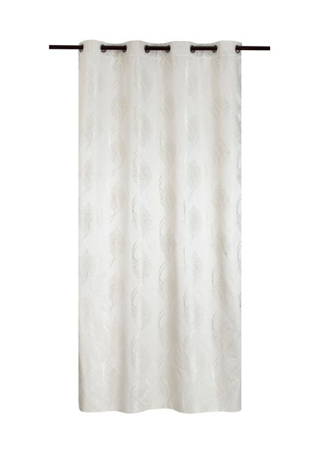 rideau occultant et thermique dessins jacquard blanc beige taupe gris homemaison