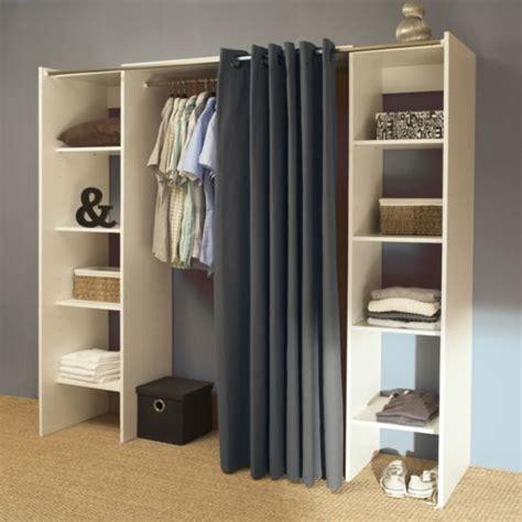 vente unique dressing extensible 8 niches 1 penderie en bois l112 185xp50xh182cm artemis 112cm