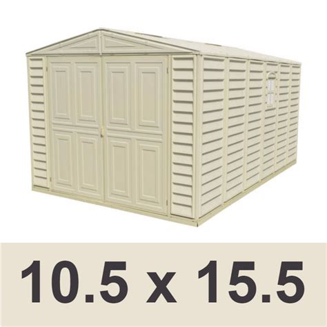 duramax 01016 10 5x15 5 vinyl garage shed on sale with free shipping