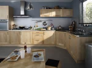 cuisine prisca leroy merlin photo 5 20 une cuisine d angle en bois avec de larges