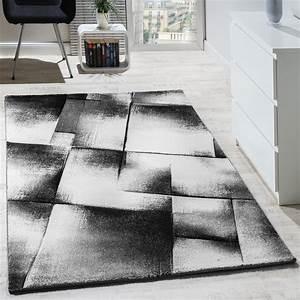 Teppich Wohnzimmer Grau : designer teppich modern wohnzimmer teppiche kurzflor meliert grau creme schwarz wohn und ~ Markanthonyermac.com Haus und Dekorationen