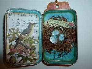#3.....altered Altoid tin.....Bird theme. | Tags ...