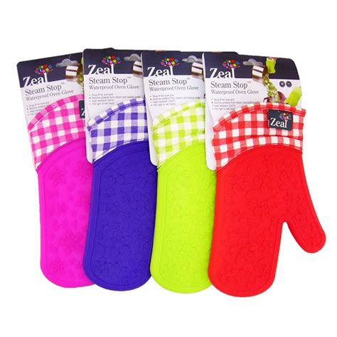 Zeal Oven Gloves by Zeal Steam Stop Silicone Oven Glove