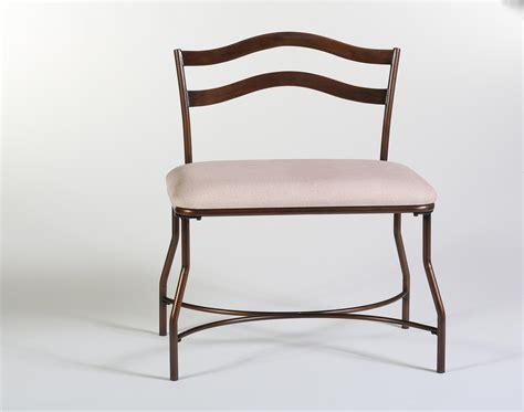 metal vanity chair with back for bathroom decofurnish