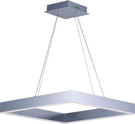 et2 e24296 al metallika modern brushed aluminum led 24 5 quot drop ceiling light fixture et e24296 al
