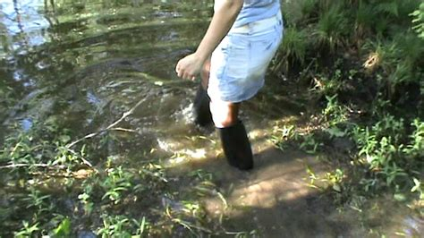 Rubber Boot Water by Rubber Boots In Water M2u00581 Mpg Youtube
