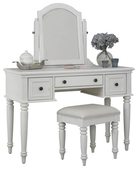 vanity table set in white finish style bedroom and makeup vanities