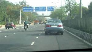 Driving in New Delhi along the Inner Ring Road, from Delhi ...