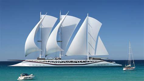 Catamaran Sailing Ship by Wallpaper Boat Sailing Ship Sea Nature Sky Vehicle