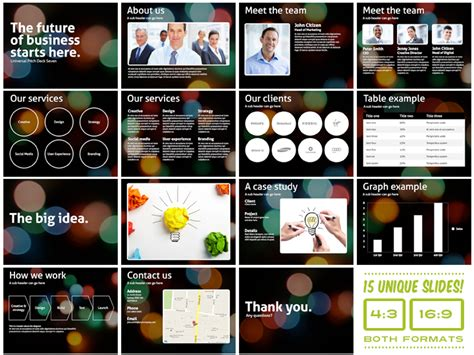 universal pitch deck seven keynote presentation templates on creative market
