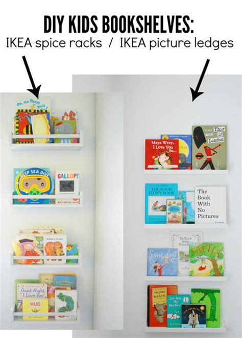 How To Use IKEA Spice Racks For Books (or the easiest DIY wall mounted bookshelf)   the sweetest