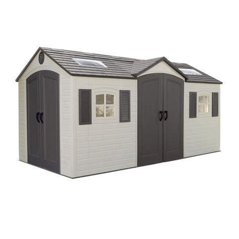 us leisure 10 ft x 8 ft keter stronghold resin storage shed 157479 the home depot