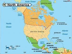 Difference between North America and USA | North America ...