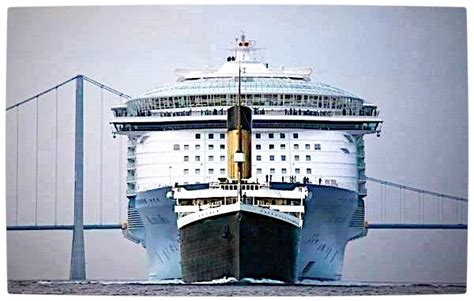 titanic vs modern cruise ship rebrn