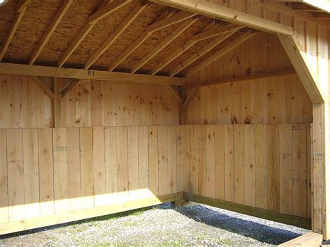 loafing shed plans shelter barn interior plans