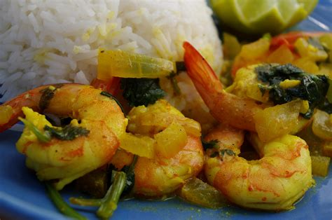 curry de crevettes au lait de coco et coriandre recette