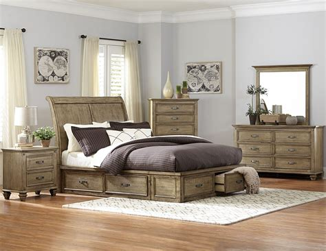Sylvania Driftwood King Platform Storage Bed From Modern Contemporary Living Room Ideas Cheap Dining Table Sets Double Oven Cabinet Home Depot Wildon Exterior Lighting Kitchen Pantry Small On A Budget Door Knobs